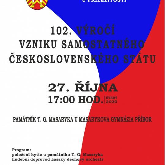 102. výročí vzniku samostatného Československého státu 1