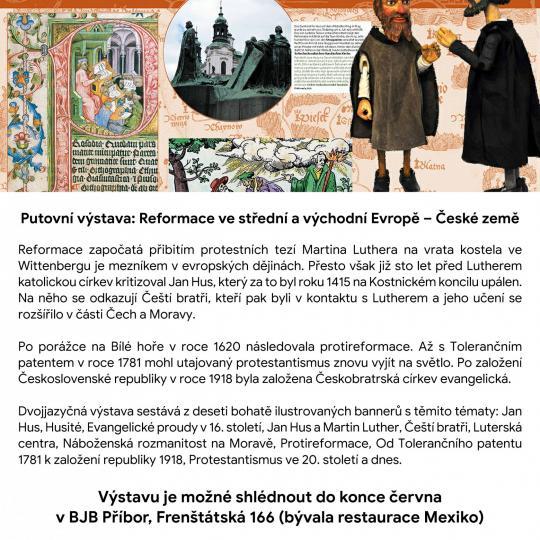 Putovní výstava: Reformace ve střední a východní Evropě - České země 1