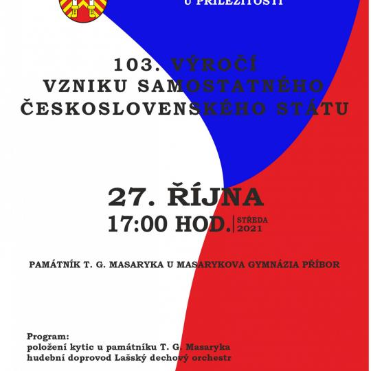 103. výročí vzniku samostatného Československa 1