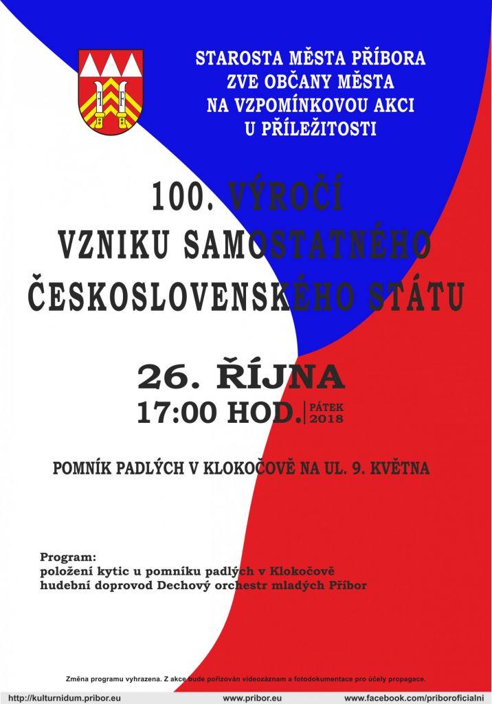 Výročí vzniku samostatného československého státu 1